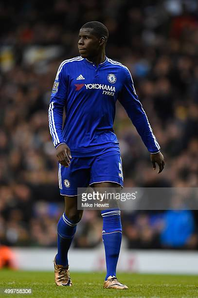 Kurt Zouma of Chelsea look on during the Barclays Premier League match between Tottenham Hotspur and Chelsea at White Hart Lane on November 29 2015...