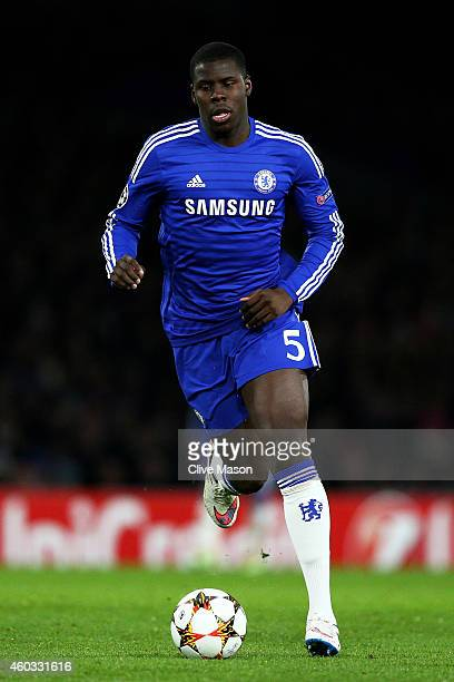 Kurt Zouma of Chelsea runs with the ball during the UEFA Champions League group G match between Chelsea and Sporting Clube de Portugal at Stamford...