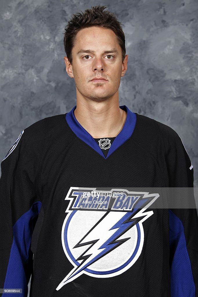 Kurtis Foster of the Tampa Bay Lightning poses for his official headshot for the 20092010 NHL season