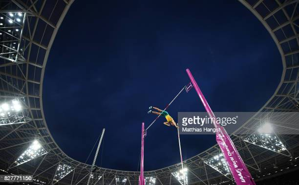Kurtis Marschall of Australia competes in the Men's Pole Vault final during day five of the 16th IAAF World Athletics Championships London 2017 at...