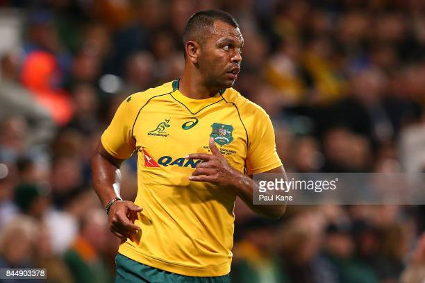 Kurtley Beale of Australia looks on during The Rugby Championship match between the Australian Wallabies and the South Africa Springboks at nib...