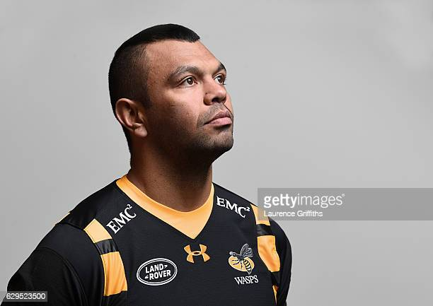 Kurtley Beale of Wasps poses for a portrait at Broadstreet Rugby Club on December 13 2016 in Coventry England