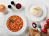 Turkish Kuru Fasulye and Rice
