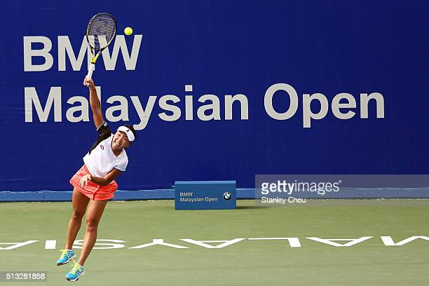 Kurumi Nara of Japan in action during Day Three of the 2016 BMW Malaysian Open at Kuala Lumpur Golf Country Club on March 2 2016 in Kuala Lumpur...