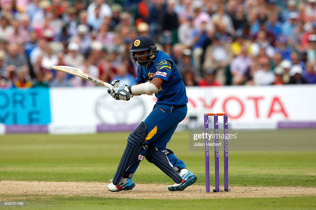 Kusal Mendis of Sri Lanka avoids a Liam Plunkett delivery during The 3rd ODI Royal London One-Day match between England and Sri Lanka at The County Ground on June 26, 2016 in Bristol, England.
