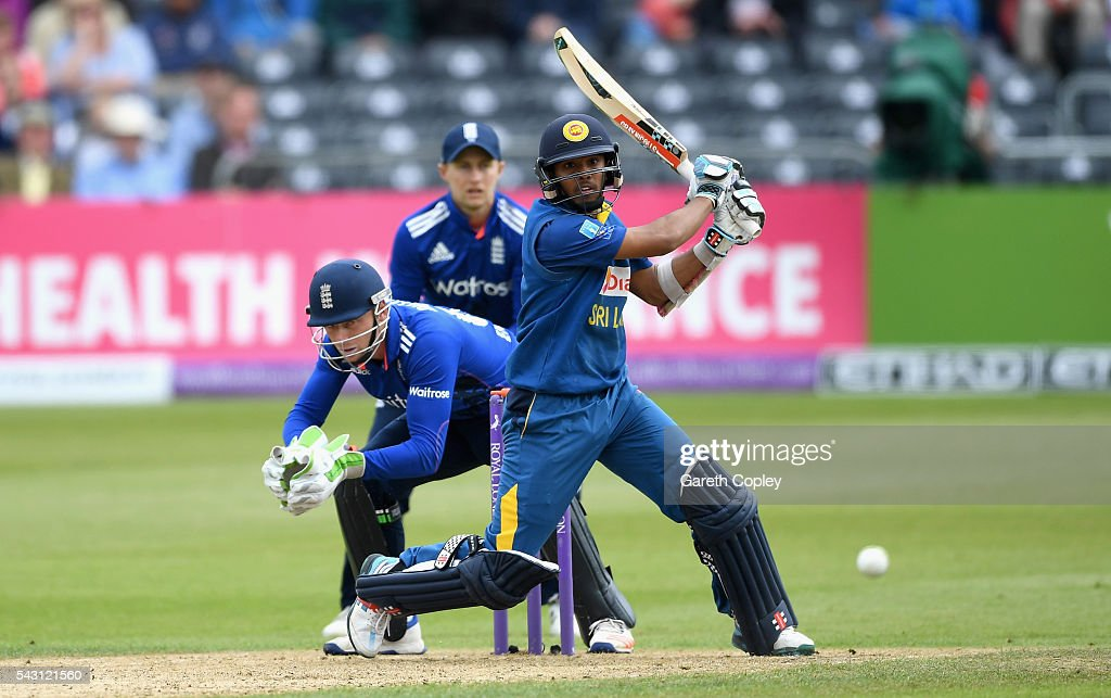 Kusal Mendis of Sri Lanka bats during the 3rd ODI Royal London One Day International match between England and Sri Lanka at The County Ground on June 26, 2016 in Bristol, England.