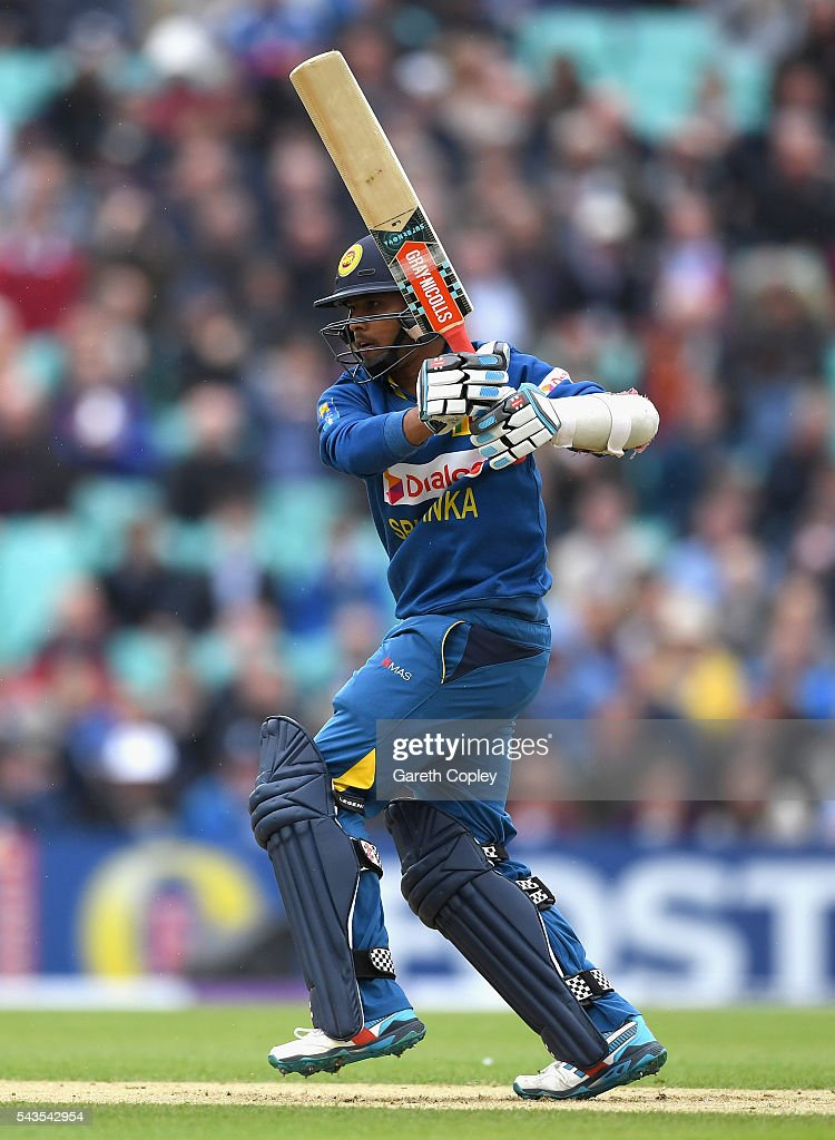 Kusal Mendis of Sri Lanka bats during the 4th ODI Royal London One Day International match between England and Sri Lanka at The Kia Oval on June 29, 2016 in London, England.