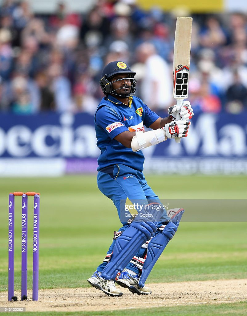 Kusal Perera of Sri Lanka bats during the 3rd ODI Royal London One Day International match between England and Sri Lanka at The County Ground on June 26, 2016 in Bristol, England.