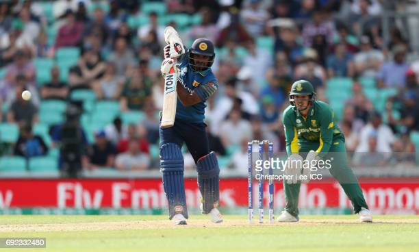 Kusal Perera of Sri Lanka in action during the ICC Champions Trophy Group B match between Sri Lanka and South Africa at The Kia Oval on June 3 2017...