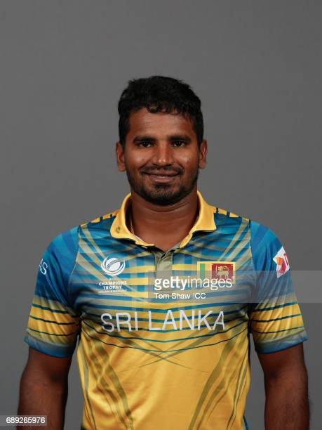 Kusal Perera of Sri Lanka poses for a picture during the Sri Lanka Portrait Session for the ICC Champions Trophy at Grand Hyatt on May 27 2017 in...