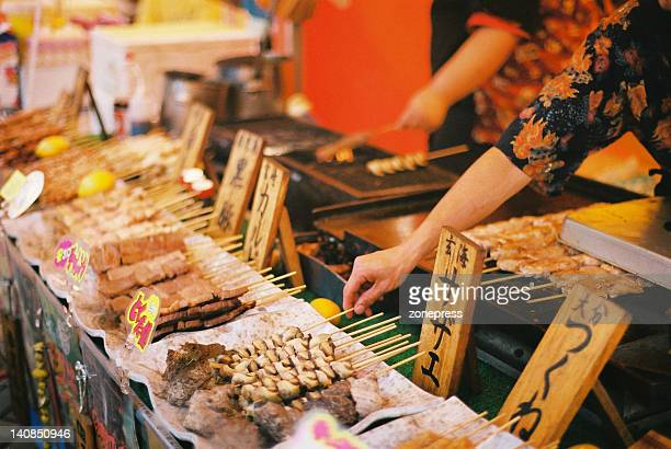Kushiyaki at hakata dontaku festival