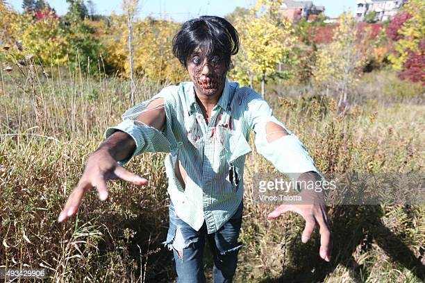 Kushmin Belasuriya in his zombie costume He throws a big Halloween bash every year and prides himself on being smart with his dollars