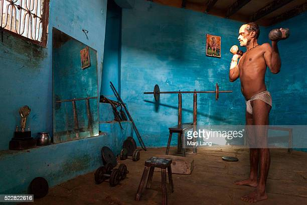Kushti wrestler exercising inside a small akhara of Varanasi Uttar Pradesh India Pehlwani or kushti is a form of wrestling from South Asia It was...