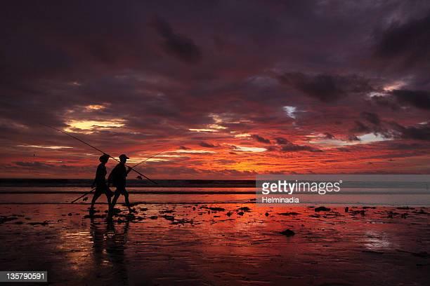 Kuta beach  at sunset