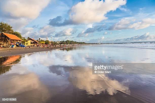 Kuta beach reflection in Bali