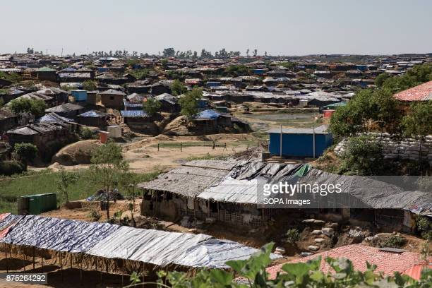 Kutupalong one of twentyseven refugee camps in Southern Bangladesh is home to 200000 Rohingya refugees victims of ethnic cleansing in Myanmar...