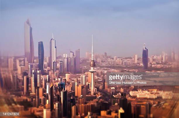 Kuwait city from airplane