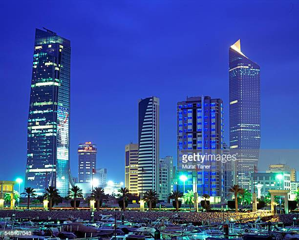 Kuwait City skyline and Al Hamra Tower