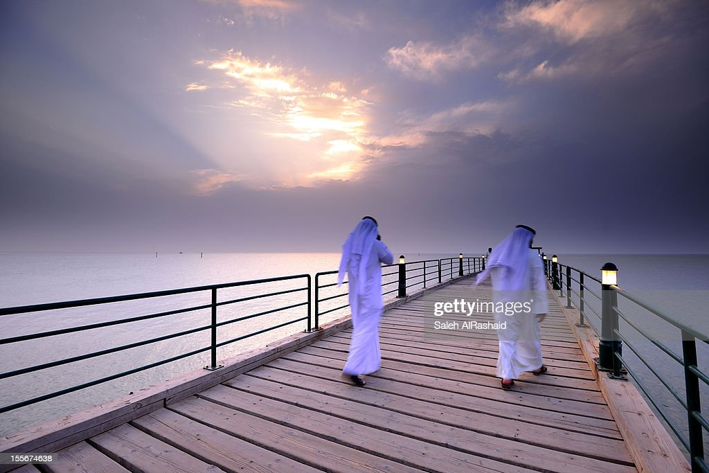 Kuwaiti Citizien walking : Stock Photo