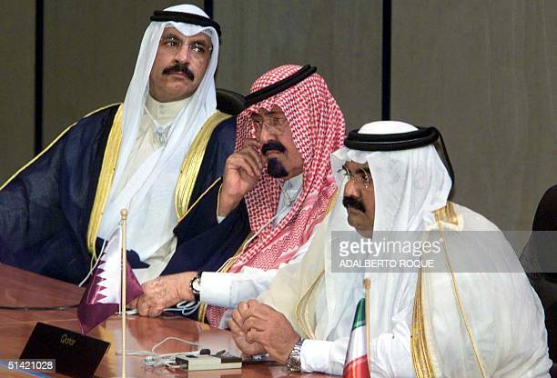 Kuwaiti head of state Sheikh Jaber AlAhmad AlSabah Saudi Arabian head of state Abdulah Ibn Abdul Aziz Al Saud and Qatari President Emir Sheikh Hamad...
