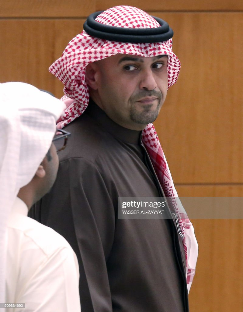 Kuwaiti Oil and Finance Minister Anas al-Saleh attends a parliament session, at Kuwait's National Assembly in Kuwait City on February 10, 2016. / AFP / YASSER AL-ZAYYAT