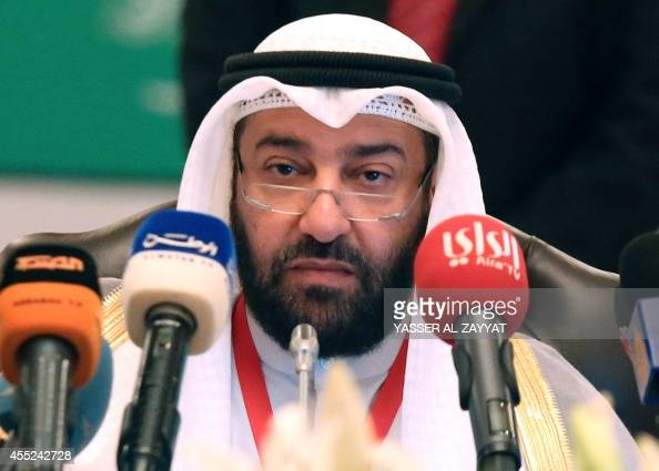 Kuwaiti oil minister Ali AlOmair attends the Gulf Cooperation Council meeting in Kuwait city on September 11 2014 Oil ministers of the sixnation Gulf...