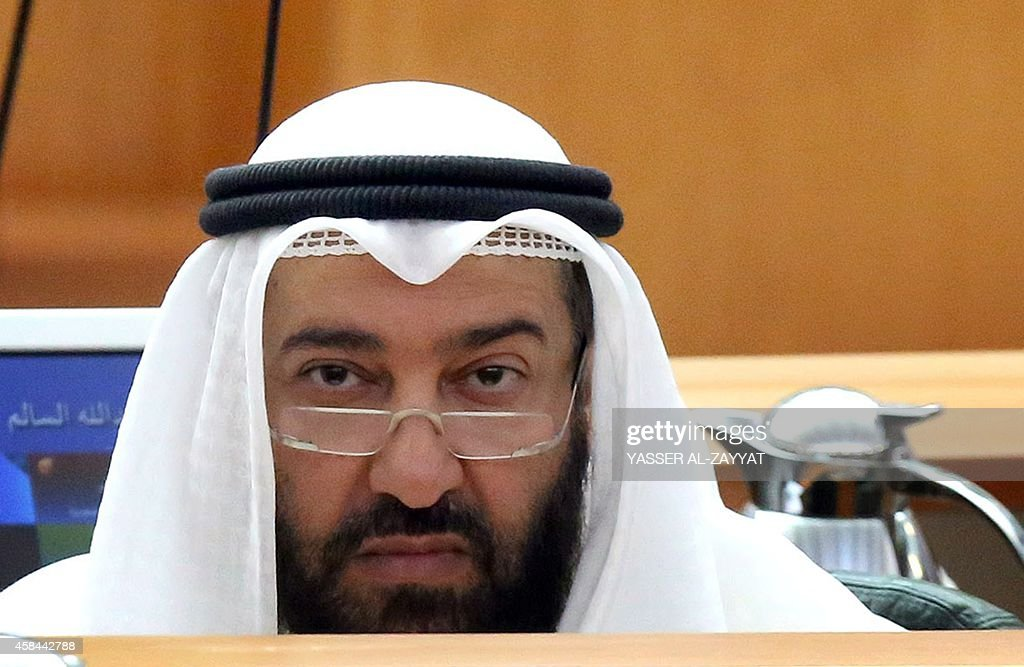 Kuwaiti oil minister Ali alOmair looks on during a parliament session at the national assembly in Kuwait City on November 5 2014 Gulf stock markets...