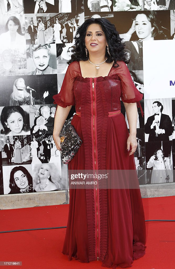 Kuwaiti star Nawal al-Kuwaitia arrive for the 13eme Murex D'or Festival taking place at the Casino Du Liban, north of the capital Beirut, on June 23, 2013.
