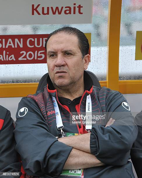 Kuwait's coach Nabil Maaloul of Tunisia is pictured during the Asian Cup football match between South Korea and Kuwait in Canberra on January 13 2015...