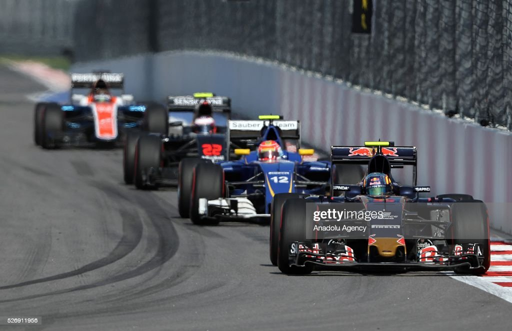 D. Kvyat race during the Formula One Grand Prix of Russia at Sochi Autodrom in Sochi, Russia on May 01, 2016.