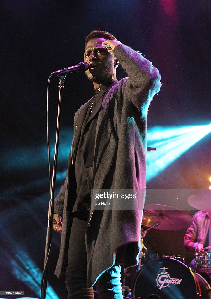 Kwabs aka Kwabena Sarkodee Adjepong performs on stage for MTV Brand New For 2014 Showcase at Islington Assembly Hall on January 30, 2014 in London, United Kingdom.