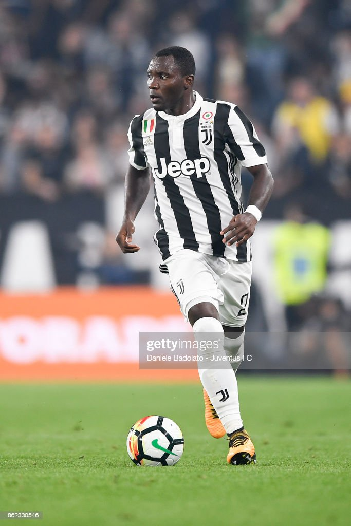 Kwadwo Asamoah during the Serie A match between Juventus and SS Lazio on October 14, 2017 in Turin, Italy.