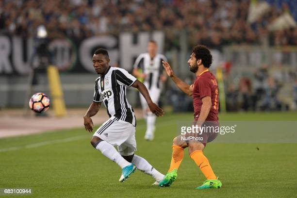 Kwadwo Asamoah Mohamed Salah during the Italian Serie A football match between AS Roma and FC Juventus at the Olympic Stadium in Rome on may 14 2017