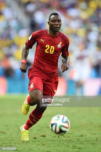 Kwadwo Asamoah of Ghana controls the ball during the 2014 FIFA World Cup Brazil Group G match between Germany and Ghana at Castelao on June 21 2014...