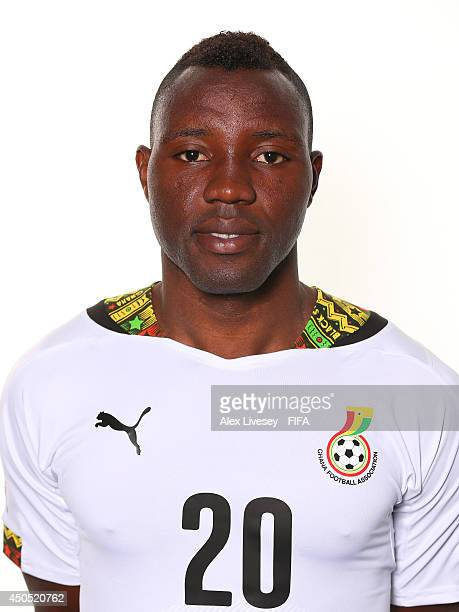Kwadwo Asamoah of Ghana poses during the official FIFA World Cup 2014 portrait session on June 11 2014 in Maceio Brazil