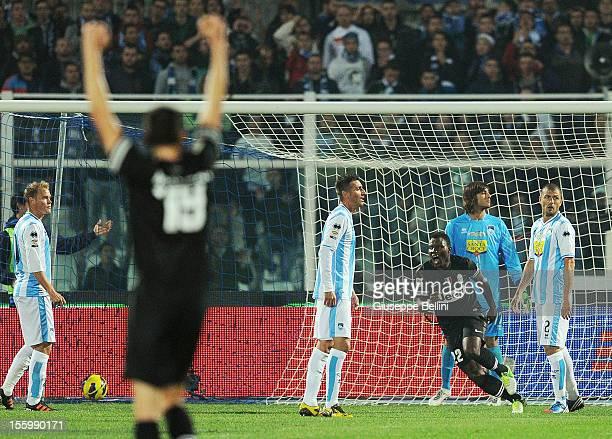 Kwadwo Asamoah of Juventus celebrates after scoring the goal 13 during the Serie A match between Pescara and Juventus FC at Adriatico Stadium on...