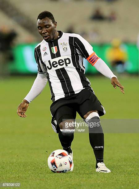 Kwadwo Asamoah of Juventus during the 2016 International Champions Cup Australia match between Melbourne Victory FC and Juventus FC at Melbourne...