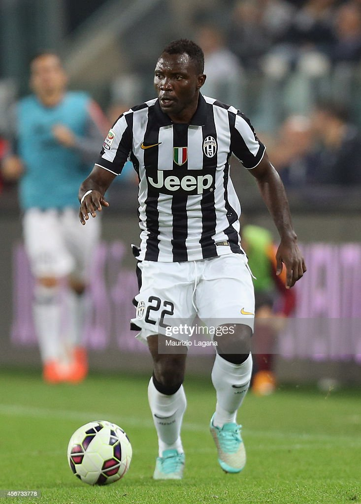 <a gi-track='captionPersonalityLinkClicked' href=/galleries/search?phrase=Kwadwo+Asamoah&family=editorial&specificpeople=4376914 ng-click='$event.stopPropagation()'>Kwadwo Asamoah</a> of Juventus during the Serie A match between Juventus FC and AS Roma at Juventus Arena on October 5, 2014 in Turin, Italy.