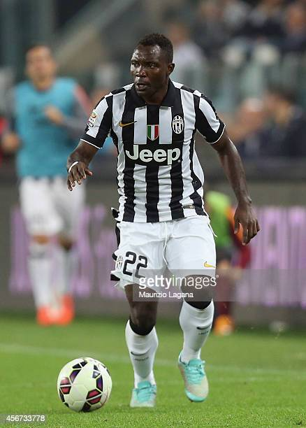 Kwadwo Asamoah of Juventus during the Serie A match between Juventus FC and AS Roma at Juventus Arena on October 5 2014 in Turin Italy