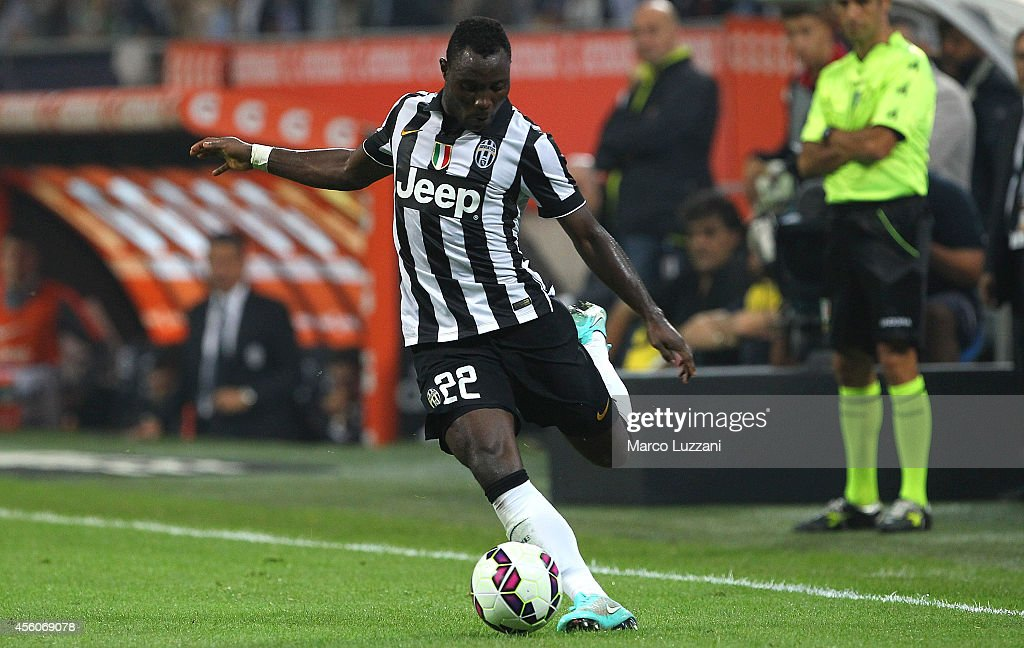 <a gi-track='captionPersonalityLinkClicked' href=/galleries/search?phrase=Kwadwo+Asamoah&family=editorial&specificpeople=4376914 ng-click='$event.stopPropagation()'>Kwadwo Asamoah</a> of Juventus FC in action during the Serie A match between AC Milan and Juventus FC at Stadio Giuseppe Meazza on September 20, 2014 in Milan, Italy.