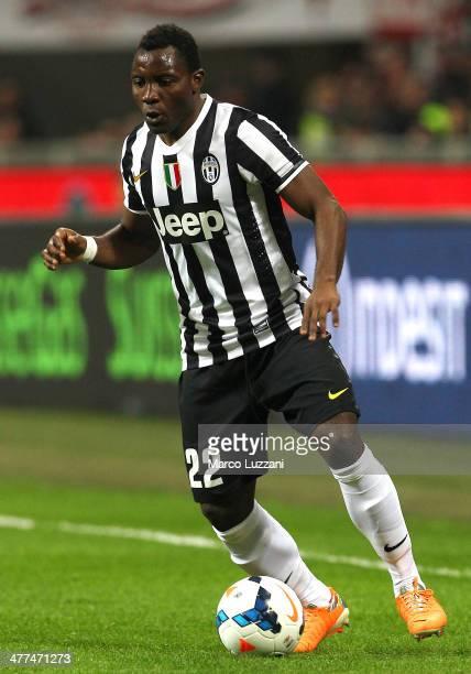 Kwadwo Asamoah of Juventus FC in action during the Serie A match between AC Milan and Juventus at San Siro Stadium on March 2 2014 in Milan Italy
