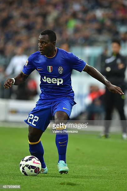 Kwadwo Asamoah of Juventus FC in action during the Serie A match between Juventus FC and US Citta di Palermo at Juventus Arena on October 26 2014 in...
