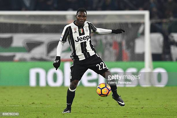 Kwadwo Asamoah of Juventus FC in action during the Serie A match between Juventus FC and Bologna FC at Juventus Stadium on January 8 2017 in Turin...