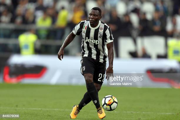Kwadwo Asamoah of Juventus FC in action during the Serie A match between Juventus and AC Chievo Verona on September 9 2017 in Turin Italy