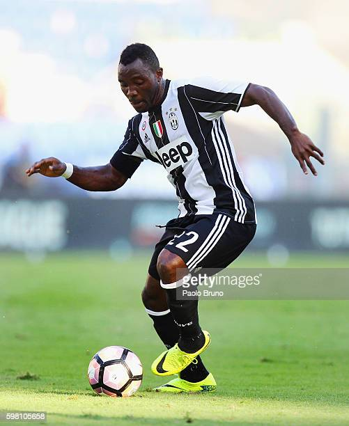 Kwadwo Asamoah of Juventus FC in action during the Serie A match between SS Lazio and Juventus FC at Stadio Olimpico on August 27 2016 in Rome Italy