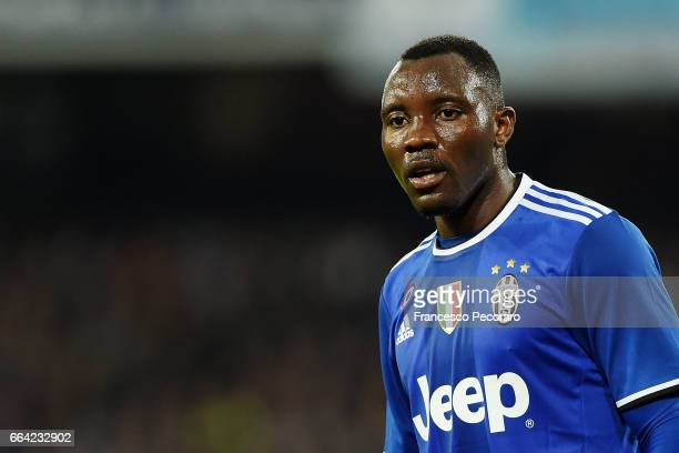 Kwadwo Asamoah of Juventus FC in action during the Serie A match between SSC Napoli and Juventus FC at Stadio San Paolo on April 2 2017 in Naples...
