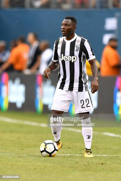 Kwadwo Asamoah of Juventus in action during the International Champions Cup match between Juventus and Barcelona at MetLife Stadium on July 22 2017...