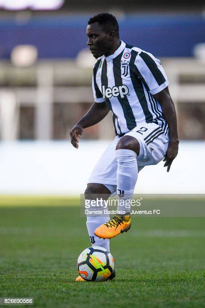 Kwadwo Asamoah of Juventus in action during the International Champions Cup 2017 match between AS Roma and Juventus at Gillette Stadium on July 30...