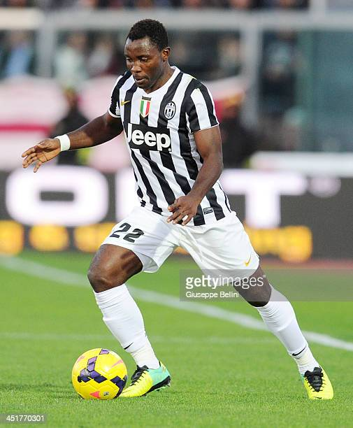 Kwadwo Asamoah of Juventus in action during the Serie A match between AS Livorno Calcio and Juventus at Stadio Armando Picchi on November 24 2013 in...