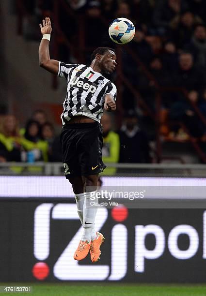 Kwadwo Asamoah of Juventus in action during the Serie A match between AC Milan and Juventus at San Siro Stadium on March 2 2014 in Milan Italy
